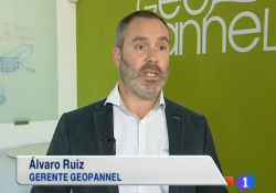 GEOPANNEL PRESENTS ITS INSULATING PRODUCTS TO THE NATIONAL TV , T.V.E.